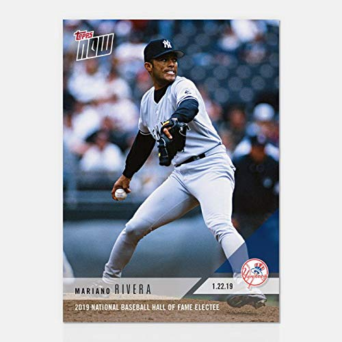 2019 MARIANO RIVERA NATIONAL BASEBALL HALL OF FAME ELECTEE TOPPS NOW CARD #OS63 + TOPLOADER
