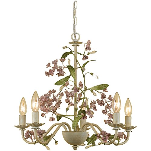 Rose Chandelier - AF Lighting 7045-5H Grace Five-Light Chandelier
