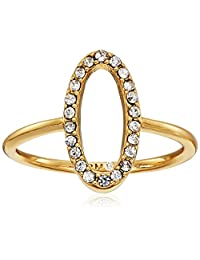 Rebecca Minkoff Shaped Pave Ring, Size 7