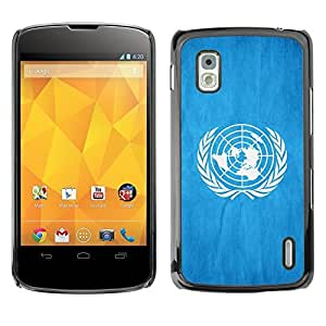 Shell-Star ( National Flag Series-United Nations ) Snap On Hard Protective Case For LG Google NEXUS 4 / Mako / E960