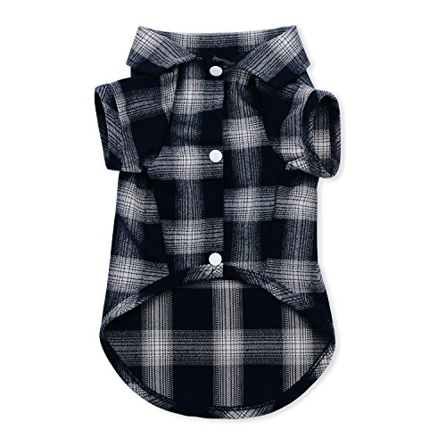(Dog Shirt,Koneseve Pet Plaid Polo Clothes Shirt T-Shirt, Sweater Bottoming Shirt ,Cat Puppy Grid Adorable Wearing Stylish Cozy Halloween,Christmas Costumes {Blue;XL/Extra Large})