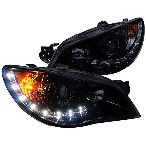 Spec-D Tuning 2LHP-WRX06G-TM Subaru Impreza Wrx Sti Tr Wagon 4Dr Led Projector Headlights Smoked