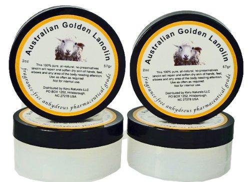 Pure Lanolin Pharmaceutical Grade – Set of Four 2 oz Pots For Sale