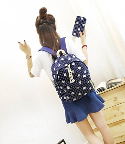 La Carrie Shop 38gzh - Bolso mochila  para mujer azul B-BLUE F-PINK