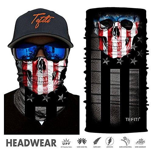 TEFITI Sports Headwear 3D UV Sun Face Masks Bandanna Balaclava Headband for Cycling Fishing Motorcycling Running Skateboarding Hunting Moisture Wicking Protection