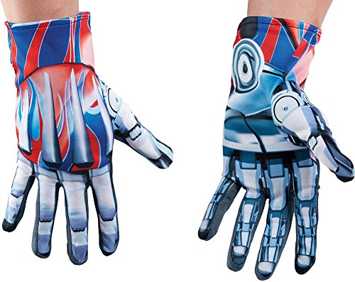 Mens Transformers The Last Knight Optimus Prime Gloves Costume Accessory ()