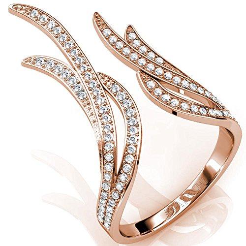 Elegant Crystal Details Fashion Matashi
