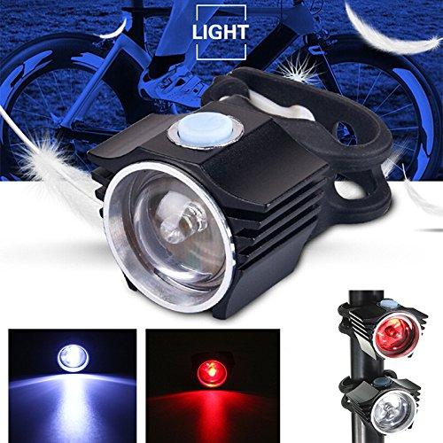 自転車 自転車 ライト USB 充電式 LED ヘッド フロント リア テールライト ランプ   B01JMC1EMY