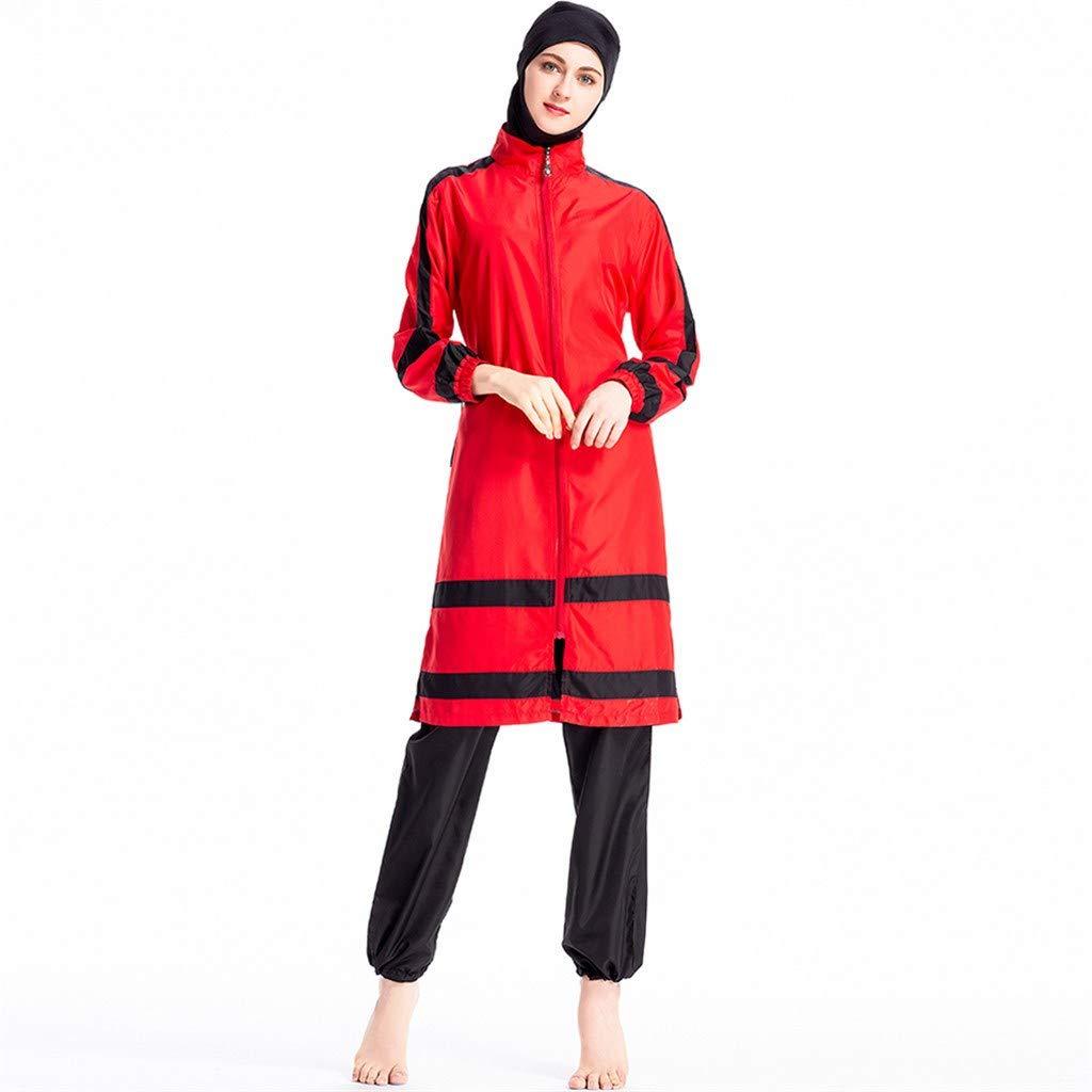 Heligen New Muslim Swimwear Islamic Full Cover Women Short