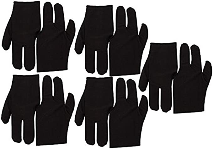 Black Stretch Velvet 3 Fingers Gloves For Billiard Cue Pool Pack Of 10: Amazon.com.mx: Deportes y Aire Libre