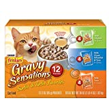 (US) Friskies Wet Cat Food, Gravy Sensations, Surfin & Turfin Favorites Variety Pack , 3-Ounce Pouch, Pack of 12