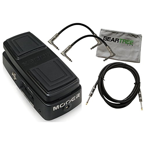 Mooer Free Step Wah and Volume Pedal Dual Ex Series w/3 Cables and Geartree Clo