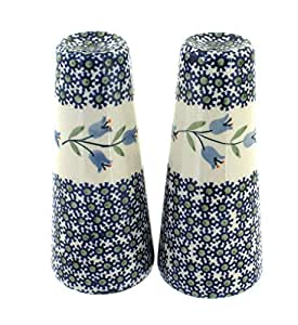 Polish Pottery Tulip Salt & Pepper Shakers