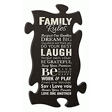 Family Rules Puzzle Piece 22 X 13