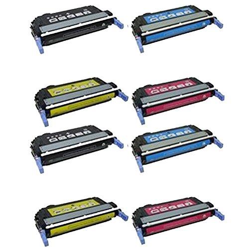Generic Compatible Toner Cartridge Replacement for HP Q6460A Q6461A Q6462A Q6463A ( Black?Cyan,Magenta,Yellow )-2Sets -