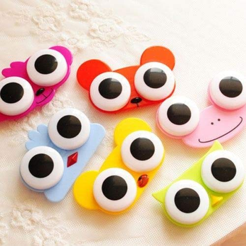 Clear White Contact Lenses Halloween - Contact Lens Case gLoaSublim,Lovely Cute Animal