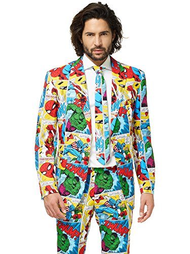 OppoSuits Official Marvel Comics Hero Suits - Infinity War Avengers Costume Comes with Pants, Jacket and Tie ()