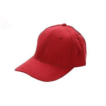 YYXXX Gorras béisbol Gorra de béisbol de Color Liso, Color Rojo ...