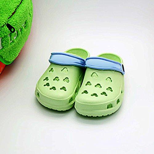 Chaussures Jardin À Des Perméable Été Obstrue L'air Glissent Plage Couple Sur Pantoufle Vert Sandales De Eastlion De 8vEEgqnx