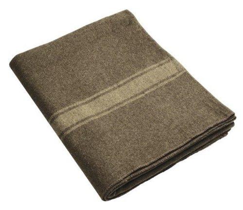 Italian Wool Blanket NEW #1 Super Heavy Duty and WARM - Army Surplus NOS -