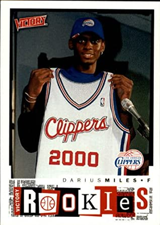 eafcd66c3fc Amazon.com  2000 Upper Deck Victory Basketball Rookie Card (2000-01)  273 Darius  Miles Mint  Collectibles   Fine Art