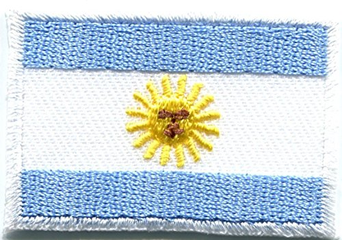 Tkazumi Patch - Flag of Argentina sun of may South America applique iron-on patch Medium ()