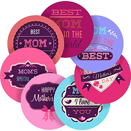 """UPC 686068620369, Cute Mothers Day Quotes Reward Sticker Labels, 35 Stickers @ 1.4"""" inch, Glossy Photo Quality, Ideal for Children Parents Teachers Schools Doctors Nurses Opticians"""