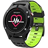 Bluetooth Smart Watch Heart Rate Monitor, Blood Pressure Heart Rate Monitor Bracelet Pedometer Waterproof IP67 Smart Bracelet Fitness Tracker for Android iOS iPhone-Green