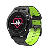 KingTo Fitness Tracker Waterproof Smart Bracelet with Heart Rate and Activity Tracking Monitor GPS Altitude Meter Thermometer Pedometer Multifunction Smart Watch Color Screen for Android iOS