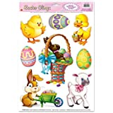 Easter Animal Clings Party Accessory (1 count) (8/Sh)
