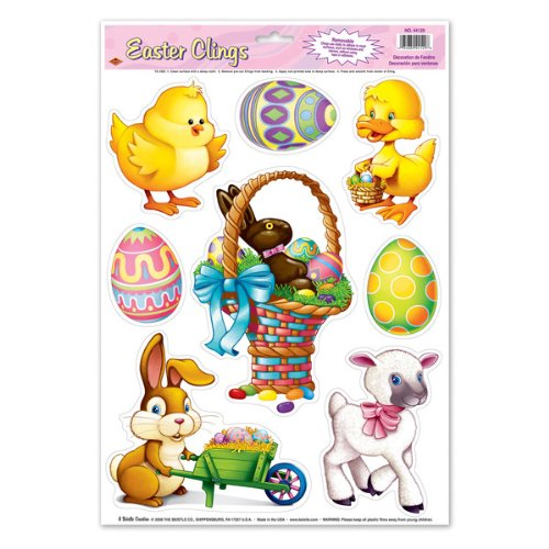 Easter Animal Clings Party Accessory