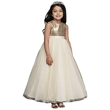 109f777a63d99 Heart Back Sequin and Tulle Flower Girl Communion Ball Gown Style WG1390