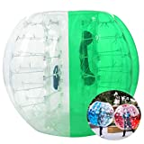 Inflatable Bumper Bubble Soccer Ball, Giant Human Hamster Ball Knocker Ball for Adults & Teens, Body Bumper Dia 4ft/5 ft(1.2m/1.5m) with Repair kit[US Stock] (Green & White(1.5M))