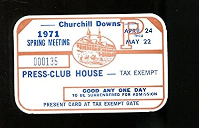 1971 Kentucky Derby Churchill Downs Press Pass Spring Racing Season Ex 23258