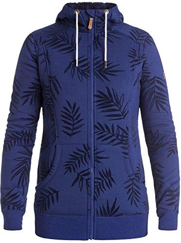 Roxy Womens Frost Printed Hoody Zip Sweatshirt Large Botanik Flockage (Botanik-shops)