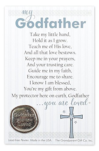 - Godfather You Are Loved Pewter Coin with Sentiment Card