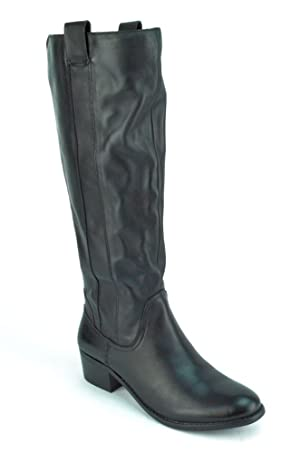 Sole Society Georgeann Women's Black Leather Riding Boots US8
