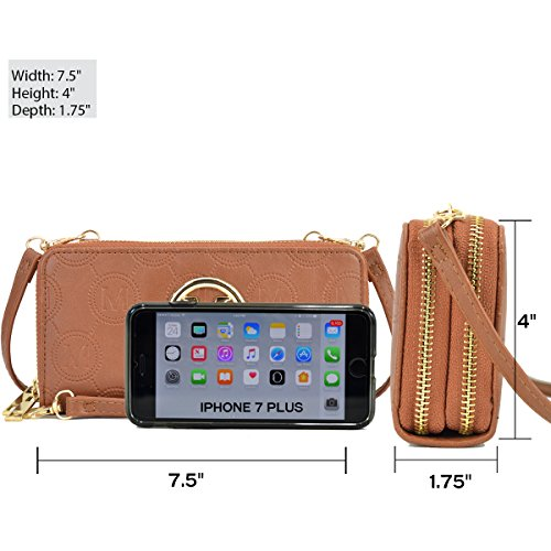 d Double Zip Wallet Around Women Wristlet for Card bg layer MMK w1083 With Classic Ma Strap Women~Fashion Case Wallet StxqXCBxTw