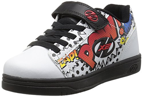 Heelys X2 Dual Up, Zapatillas Unisex Niños Blanco (White / Black / Multi Comic)