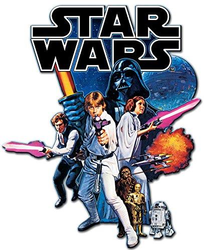 Wood Die Cut - Silver Buffalo SW4406 Disney Star Wars Episode 4 Die Cut Wood Wall Art, 15 x 10.5 inches