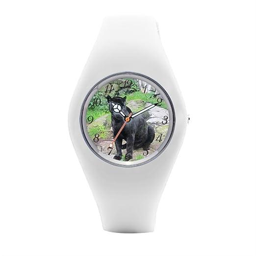 Jaguar para mujer muñeca Relojes Jaguars negro de goma relojes: Amazon.es: Relojes