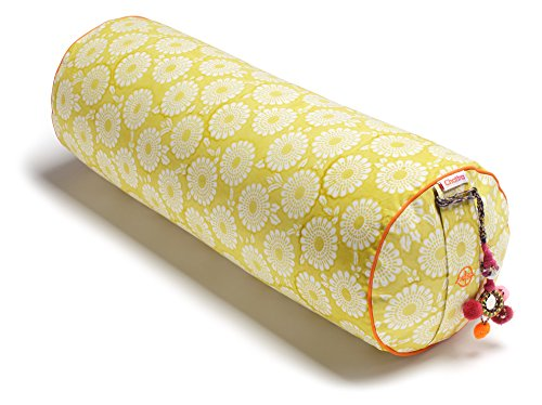 Chattra Citron Marigold Round Yoga Bolster