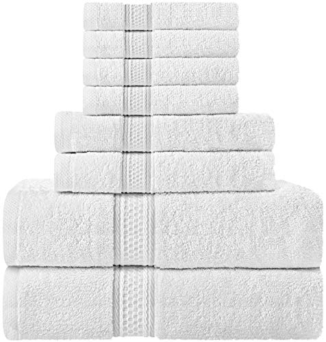 Utopia Towels Towel Set, 2 Bath Towels, 2 Hand Towels, and 4 Washcloths, 600 GSM 100% Premium Ring Spun Cotton Highly…