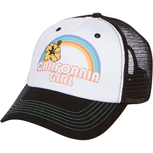 (Dolphin Shirt Co California Girl Trucker Snapback Hat - Black/White)