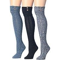 Tipi Toe 3-pairs de la mujer Cozy Super Suave de Invierno Cálido cotton-blend–Calcetines para botas de caña alta