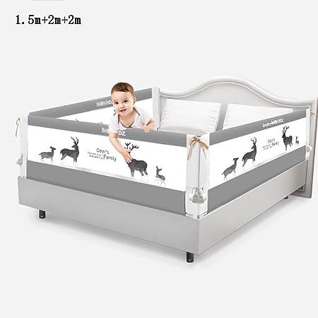 Valla seguridad infantil escalera Brisk- Cama Barandilla \ barandilla Cama para niños Combinación de barandas 3 vallas de cara \ camas Sombrilla Gran cama deflectora (Color : Gray-1.5m+2m+2m): Amazon.es: Hogar