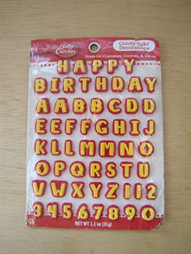 BETTY CROCKER CANDY CARD ALPHABET, 1 -