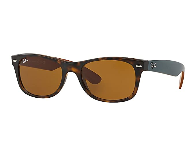 24c7354d7b8 Ray-Ban Matte Tortoise Brown Classic B-15 55mm RB2132 NEW WAYFARER Square  Sunglasses  Amazon.co.uk  Clothing