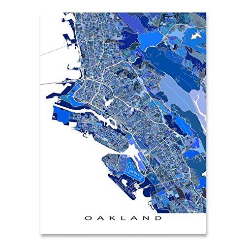 Oakland Map Print, California USA, City Art Street Poster