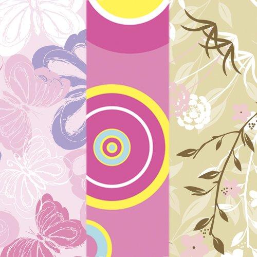 Bumkins Waterproof SuperBib 3 Pack, G6 (Pink Fizz/Butterfly/Flutter Floral) (6-24 Months)